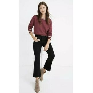 NWT Madewell Cali Denim Boot Black Jeans 24T